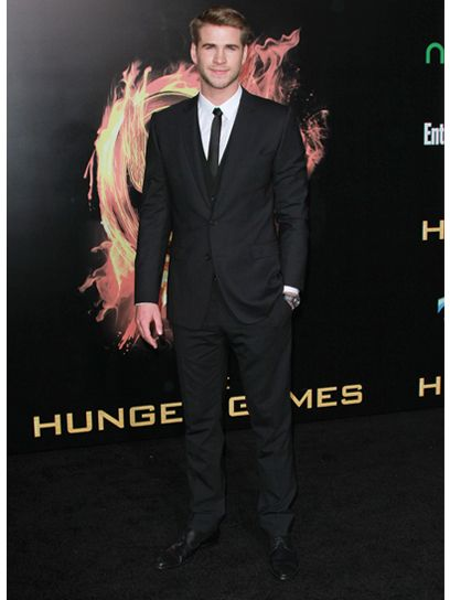 Liam Hemsworth at the Los Angeles premiere of 'The Hunger Games'Liam Hemsworth Gal, The Hunger Games, Awesome,  Suits Of Clothing, Hunger Games Food, Los Angeles, Los Angels, 60, Angels First
