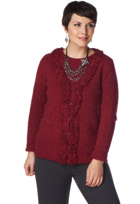 Ruffle Front Cardigan - Christopher & Banks