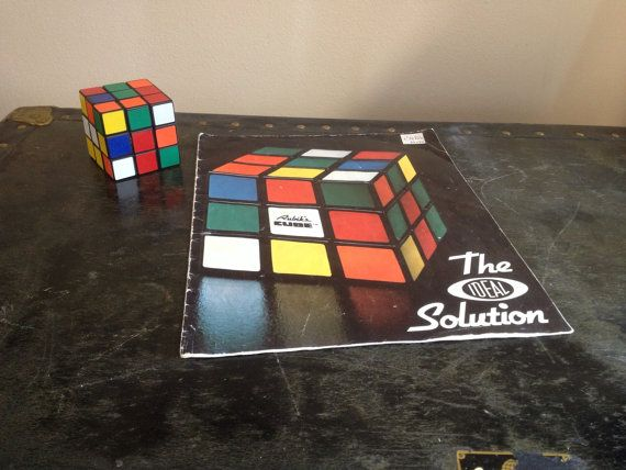 Rubiks cube and the solution book 1981 by AnthonysAntiquities, $12.00