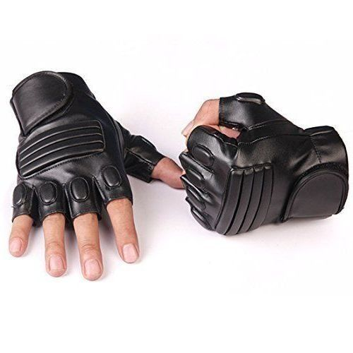 New Leather Black Gloves for Biking