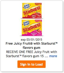 [Kroger] #Free Juicy Fruit With Starburst Flavor Gum!  See more #freebies, #deals and #coupons at threeinthefamily.com