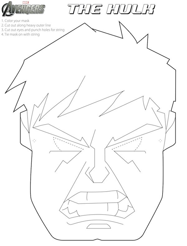 Free Avengers Halloween Masks To Color Fun For An B Day Party