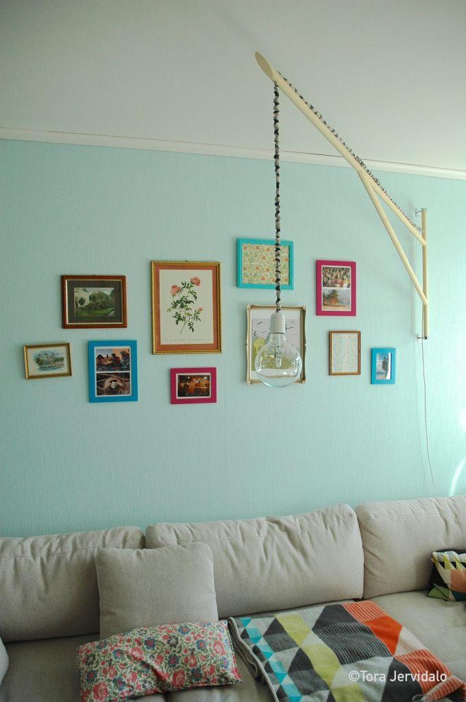 Svingstang pendellampe DIY Belysning Stue Lighting Hanging Lamp Livingroom