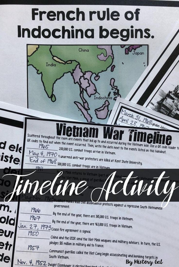 Vietnam War Timeline Activity Vietnam War Vietnam War Veterans Vietnam War Photos