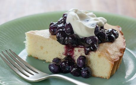 Kuchen, a traditional German dessert, is found all over Chile in varying forms thanks to a large German community. This simple version features fresh blueberries mixed with blueberry jam for an easy topping. Inspired by Whole Planet Foundation microcredit client recipes.