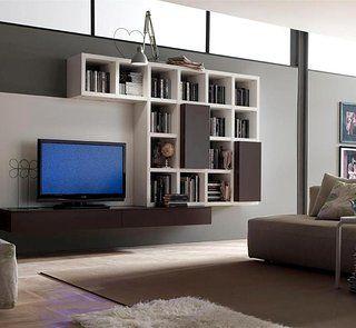 parete attrezzata libreria design www.mobiliercole.com http://bit.ly/seguime