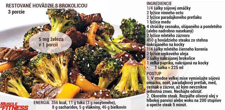 Hovädzie s brokolicou - dodá 5 g železa v 1 porcii.