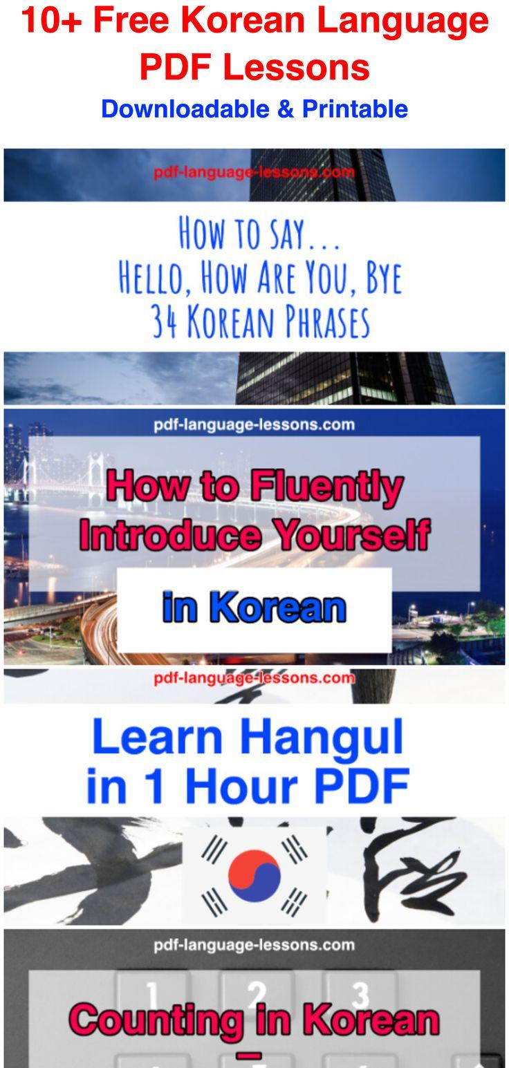 Downloadable & Printable / 10+ Free Korean Language PDF