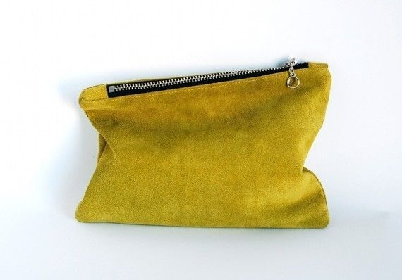 clutch: Leather Minis, Minis Clutches, Fashion Accessories, Cute Envelopes, Clutches Bags, Orange Accessories, Ochr Yellow, Foldover Clutches, Envelopes Clutches