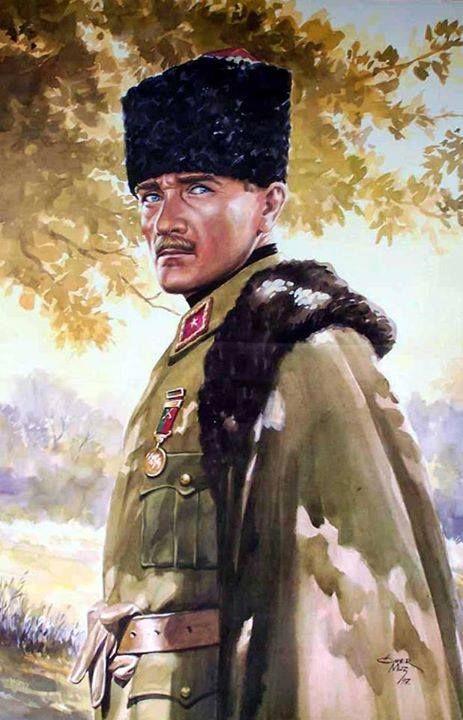 Atatürk portrait. Artist Ömer Muz