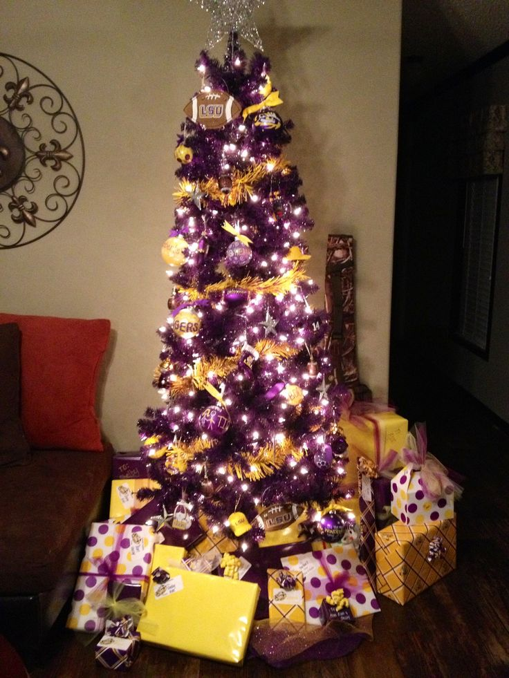 LSU Christmas Tree!! The kids would love this!! | Christmas | Pinterest |  Lsu, Christmas and Christmas Tree. - LSU Christmas Tree!! The Kids Would Love This!! Christmas