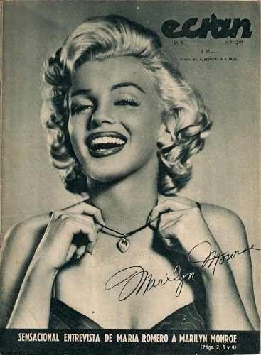 Marilyn Monroe Portada Ecran. Revista 1955 De Coleccion -