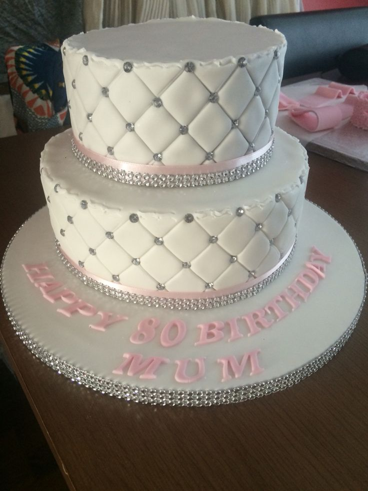 Diamond quilted cake