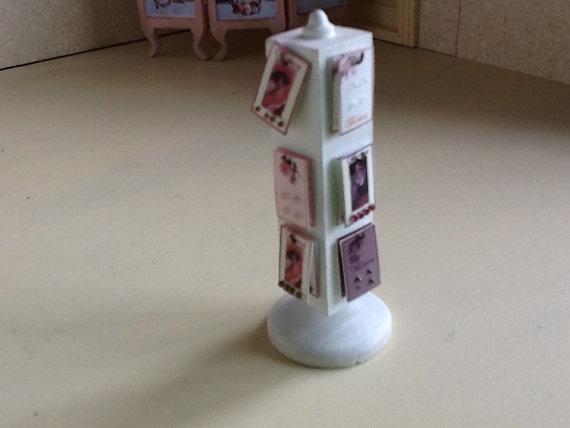 Dollhouse miniature revolving button display rack by bellainrosa, $25.00