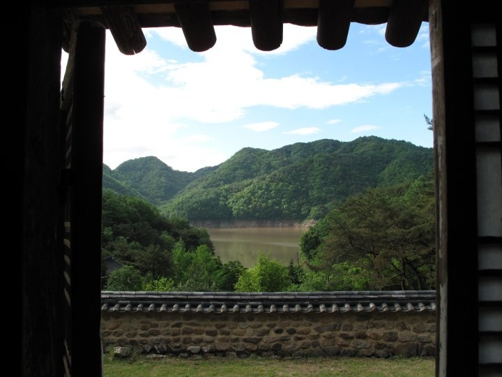 View from traditional Korean house