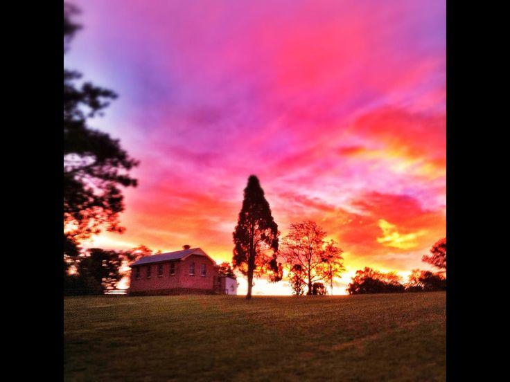 Bella Vista farm sunset. Copyright Aaron Rusden Photography