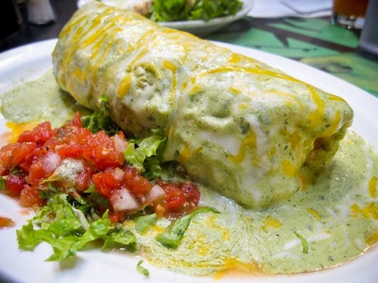 Day 1: Your favorite food (Classic Wet Burrito w/ Green Sauce)