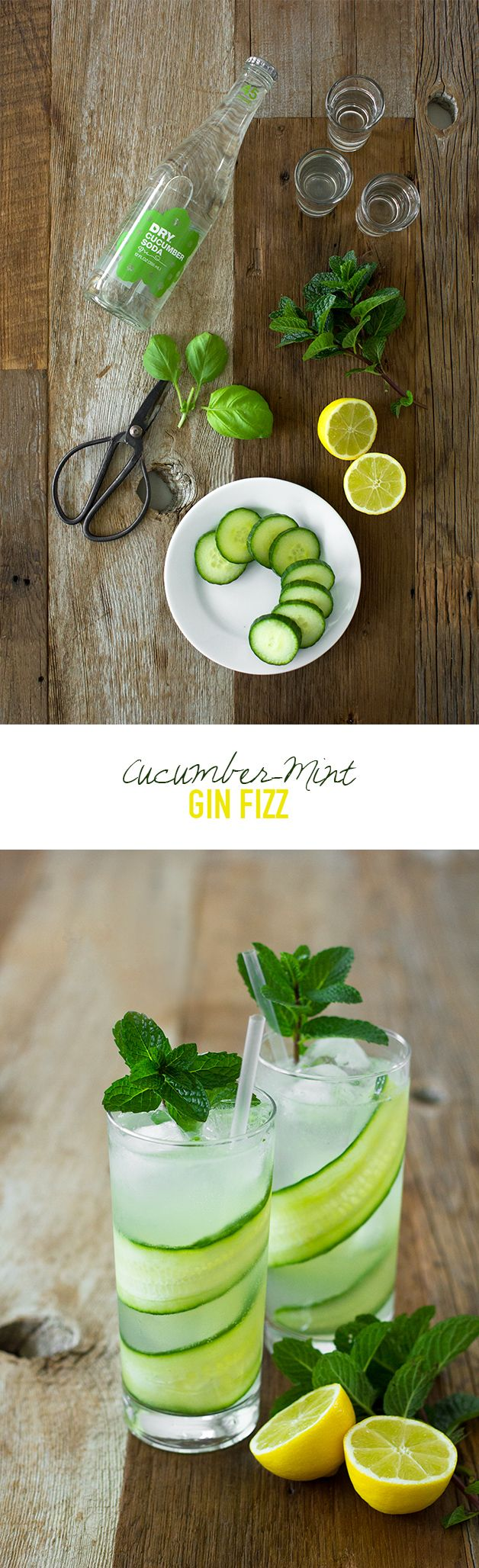 Cucumber-Mint Gin Fizz - a crisp, refreshing spin on the gin fizz with ...
