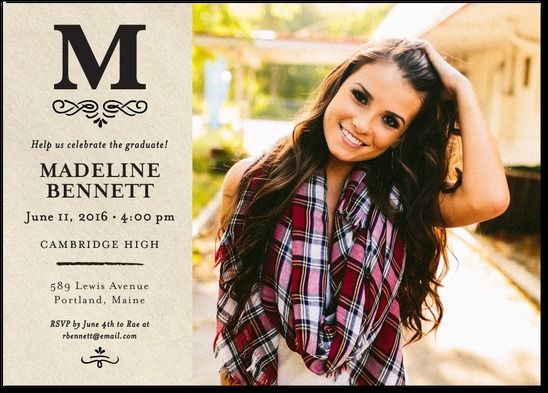 Senior Invitations Pertaminico - Graduation party invitations ideas