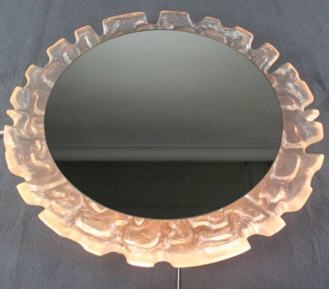 Beautiful Wand Spiegel Beleuchtet Acryl Plexi Rahmen cm Vintage er Jahre