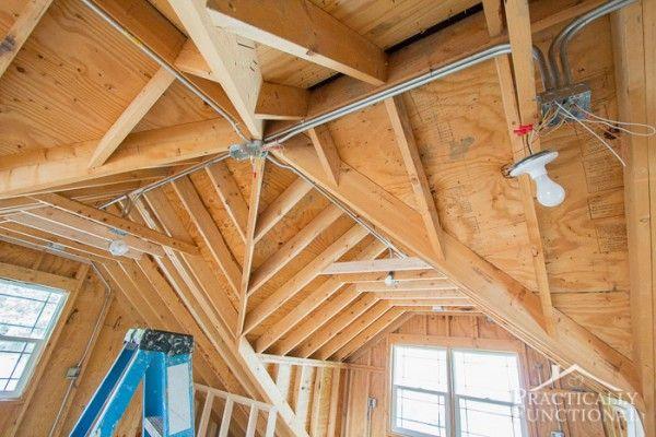 Garage Remodel Progress - Upper Floor Framing And Electrical-4