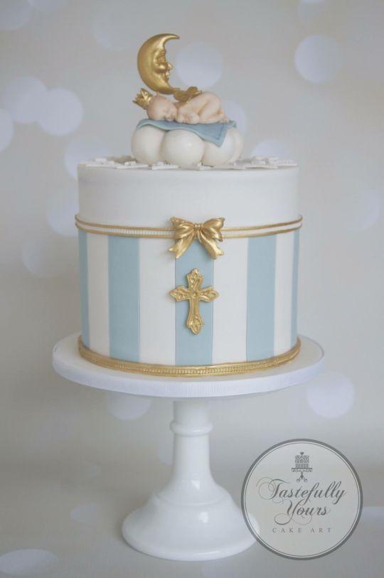Dream baby baptism cake