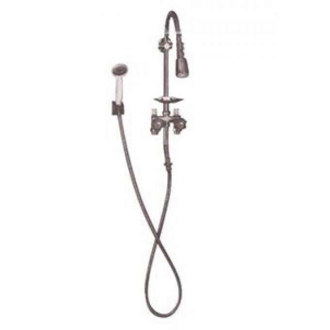 Economy Exposed Outdoor Shower Kit with Hand Shower - Outdoor Showers - Outdoor signaturehardware.com---159.00