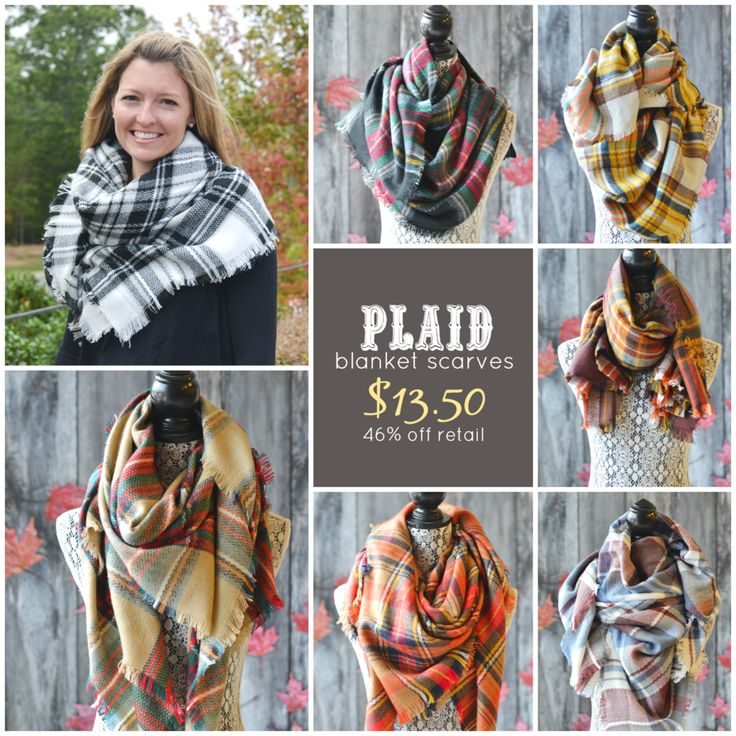 Blanket Scarves Sale!  Preorder now through 10/5/15 for ultimate savings!