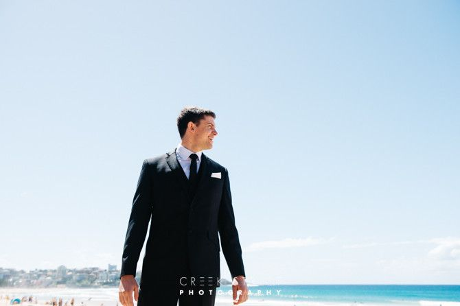 groom at Manly Beach
