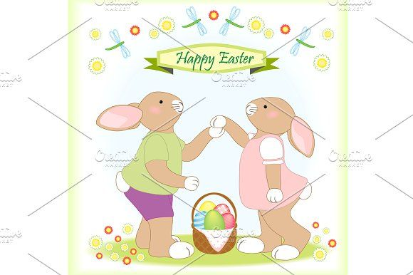 Easter greeting card by All Cute Stuff on @creativemarket