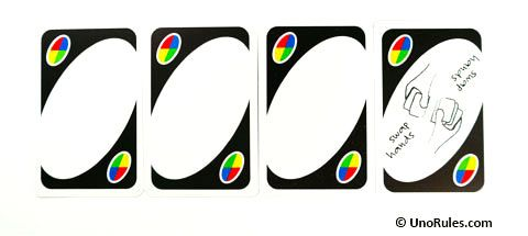 Wild Blank Customizable Cards And Swap Hands Uno Card Game Uno Card Game Rules Blank Playing Cards
