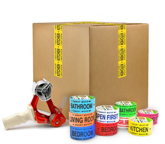 Color coded room tape -- perfect for moving and staying organized!