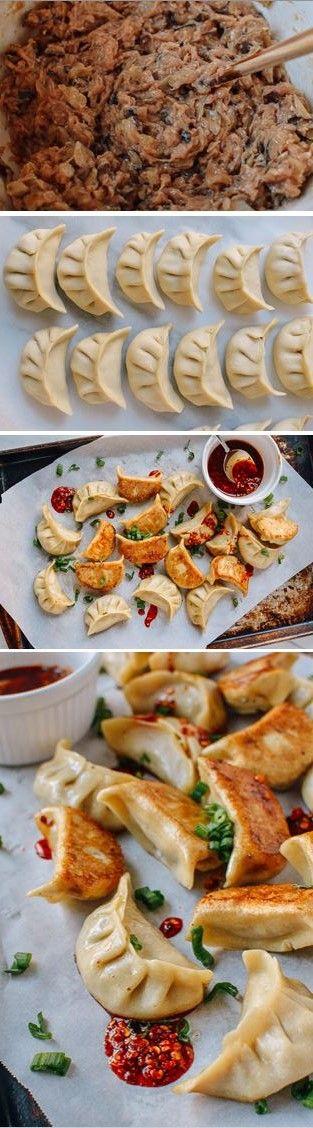 Chicken Dumplings with Shiitake Mushroom recipe by the Woks of Life