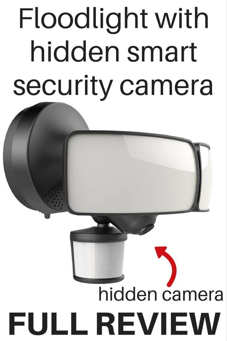 This new smart floodlight was just announced today. It has a hidden camera for sleek security. Genius!
