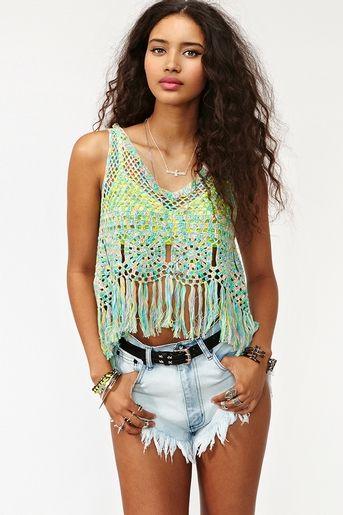 Crocheted top, OMG