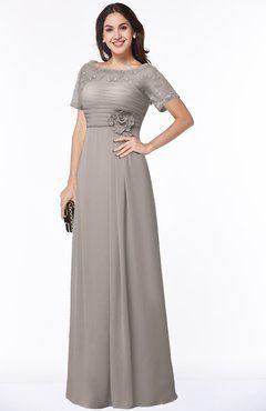 239c535e3cb9 ColsBM Amanda Fawn Traditional Short Sleeve Zip up Chiffon Floor Length  Flower Bridesmaid Dresses