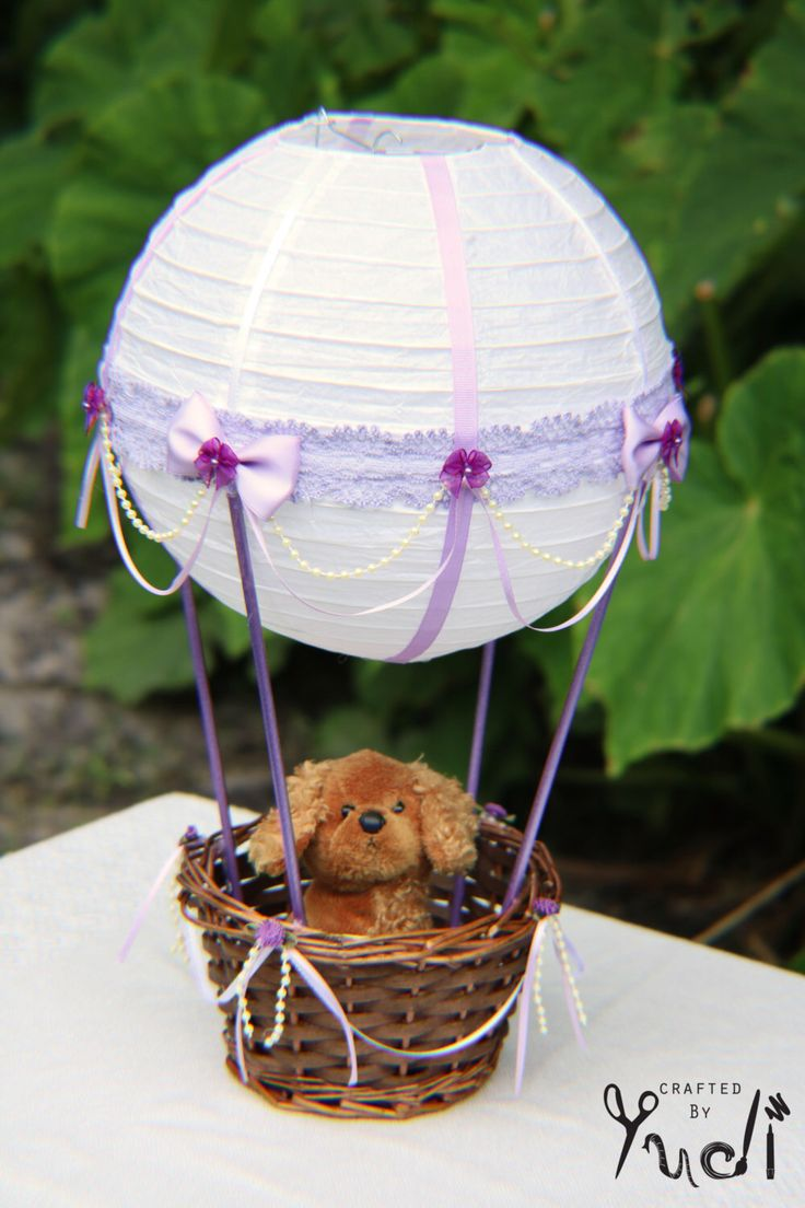 Hot Air Balloon Party Decoration, Hot Air Balloon Babyshower Centerpiece by  CraftedByYudi on Etsy https