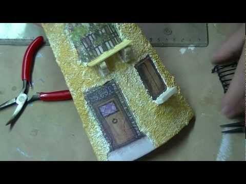 Tutorial: Decoupage tridimensionale su tegola di ceramica (prima parte) - YouTube