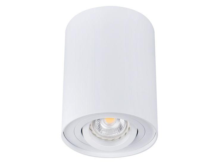 LED-Aufbau-Spot weiß, BORD DLP-50-W, schwenkbar incl. LED Leuchtmittel 5W - dimmbar - warm weiss 230V