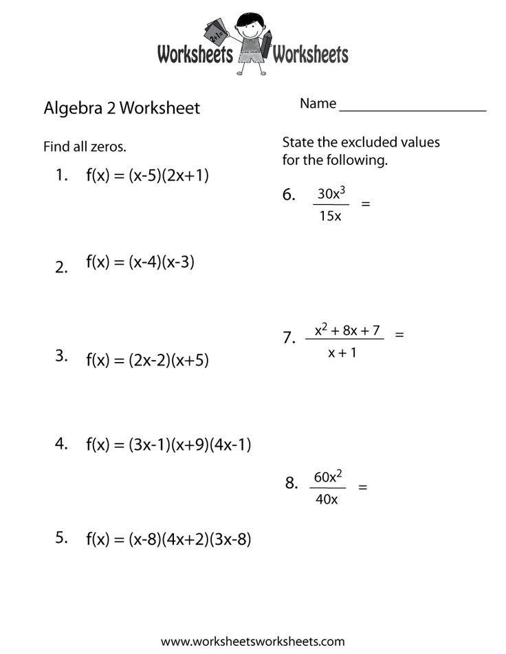 algebra 2 practice worksheet printable algebra worksheets pinterest more algebra and. Black Bedroom Furniture Sets. Home Design Ideas