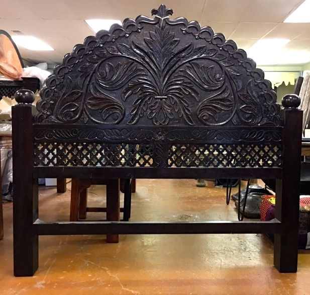 Rajasthani Arch Headboard Wooden Bed Design Arched Headboard Carved Headboard