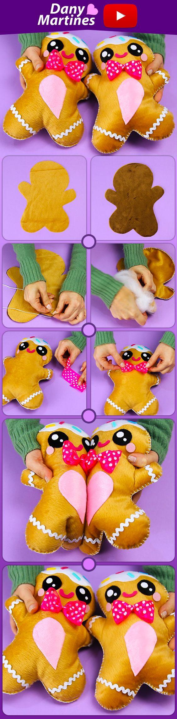 Faça Você mesmo boneco biscoito para sua amiga, best friends, melhores amigas, DIY, do it yourself, diy fofinho, kawaii