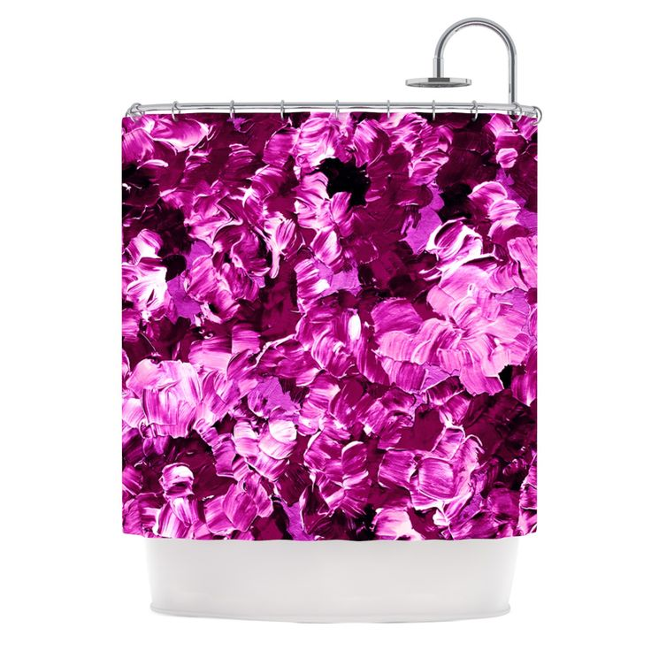 Ebi Emporium Floral Fantasy Iii Magenta Shower Curtain Magenta Shower Curtains And Girly