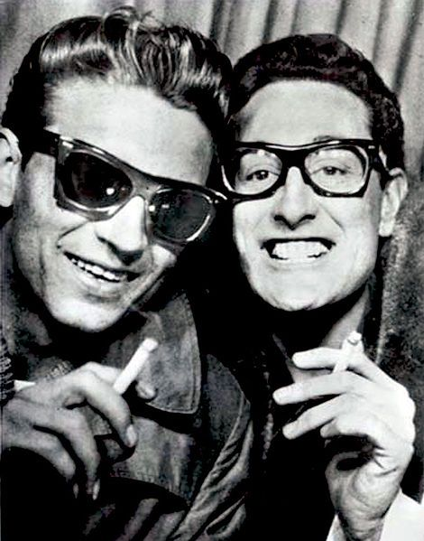 Wow... a young Waylon Jennings with Buddy Holly