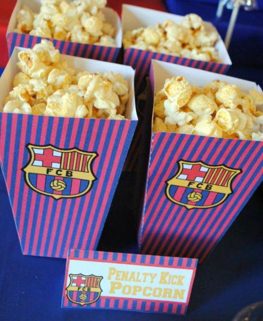 Soccer Party: Matthew's Team Barcelona Birthday  http://mimisdollhouse.com/soccer-party-matthew/