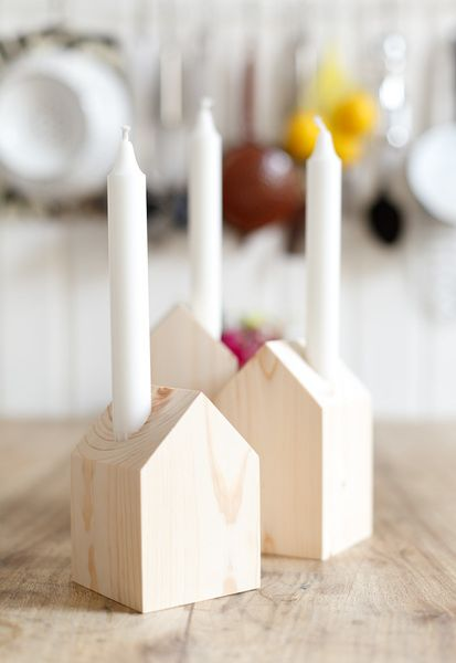 DIY Candle houses