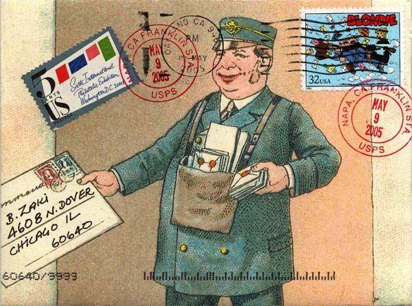 Mail Art postman