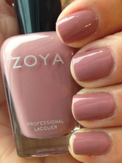 "Such a pretty, soft pink. Zoya ""Bridgette"" I ❤ Zoya Polish!!!"
