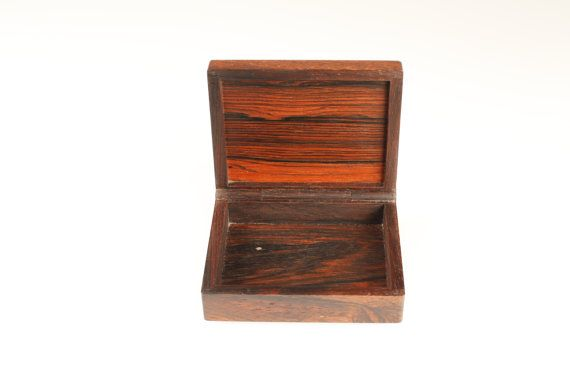One of a kind Alfred Klitgaard Brazilian Rosewood box with enamel by Danish artist Bodil Eje. Made in Denmark in the 1960s.