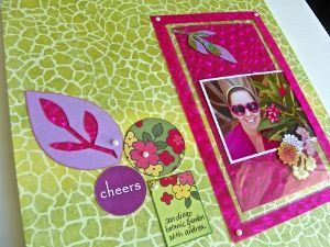 Repurposed Plastic Frame Scrapbook Layout tutorial designed by @Lisa Phillips-Barton Fulmer